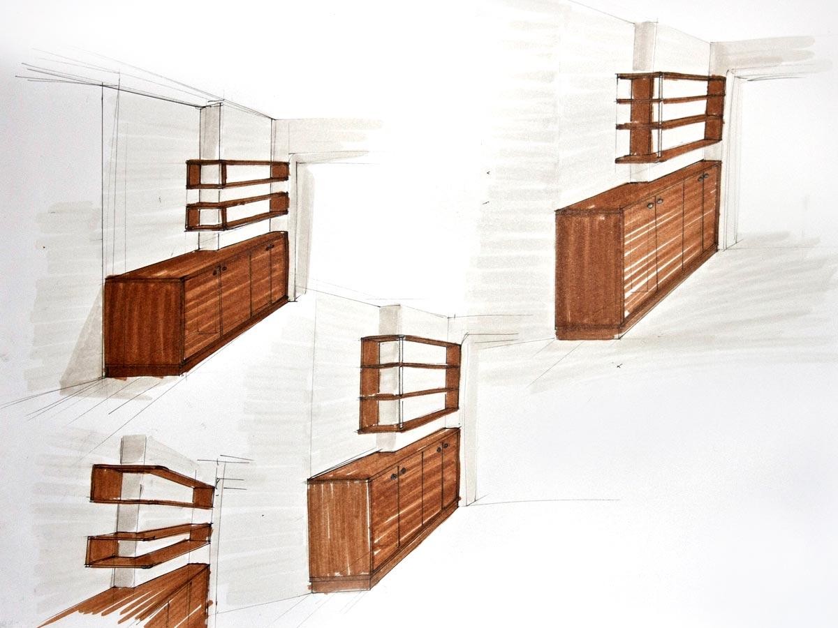 Entwürfe für Möbel - Tischlerei S. Schramm