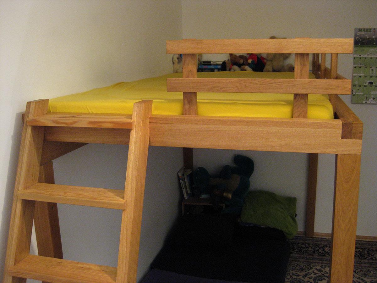 hochbett f r kinder und erwachsene tischlerei s schramm. Black Bedroom Furniture Sets. Home Design Ideas