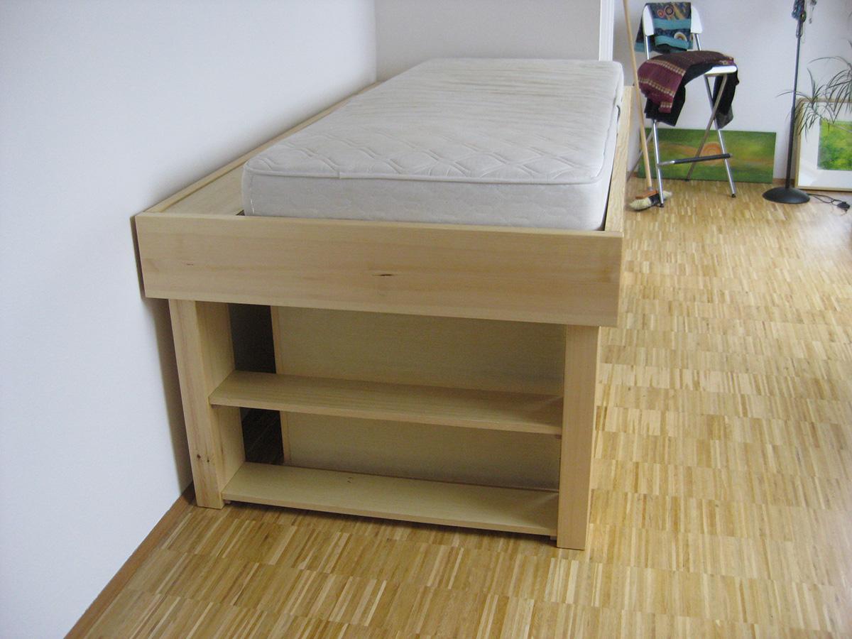 Kleines hochbett mit sch ben tischlerei s schramm - Kleines hochbett ...
