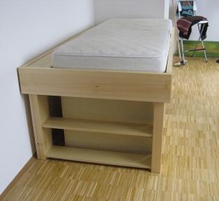 Tischlerei Sebastian Schramm - Kleines Hochbett mit Schüben