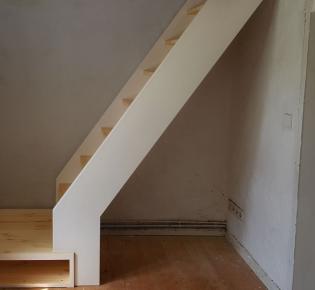 Tischlerei Sebastian Schramm, Dresden Neustadt - Treppe weiß, Kiefer