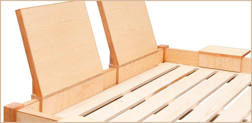 Tischlerei Sebastian Schramm - Doppelbett aus Holz - Detail